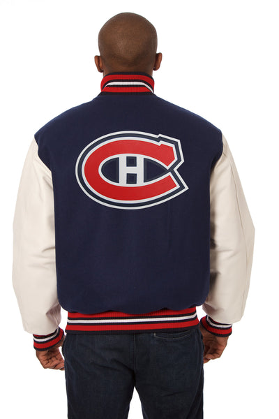 Montreal Canadians Domestic Wool and Leather Jacket