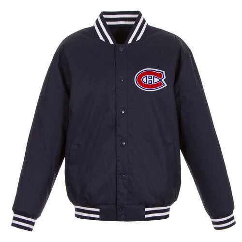 Montreal Canadiens Poly-Twill Jacket (Front and Back Logo)
