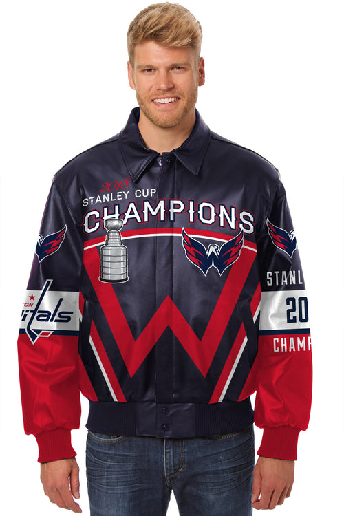 Washington Capitals Stanley Cup All-Leather Jacket