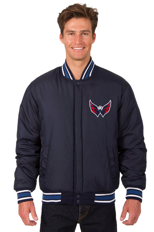 Washington Capitals All-Wool Reversible Jacket (Front Logos Only)