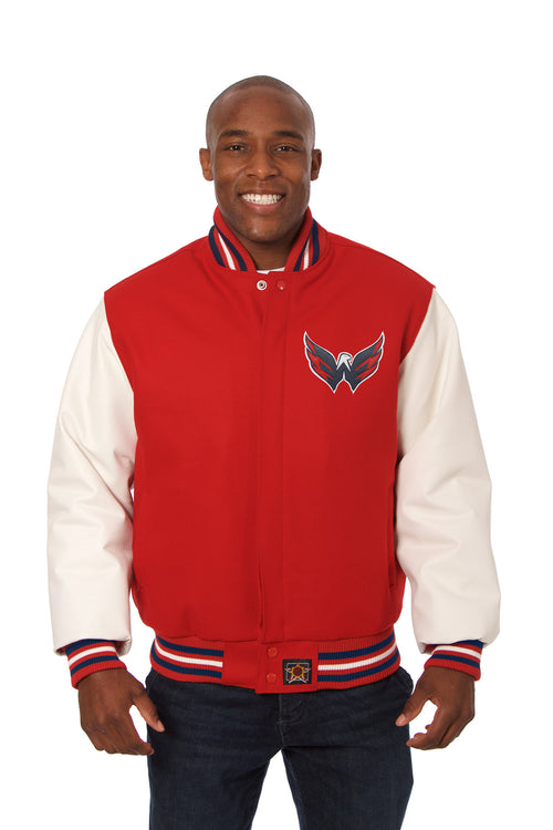 Washington Capitals Wool and Leather Domestic Jacket