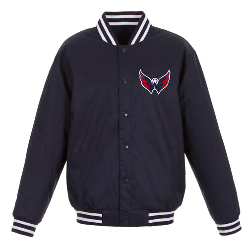 Washington Capitals Poly-Twill Jacket (Front Logo Only)