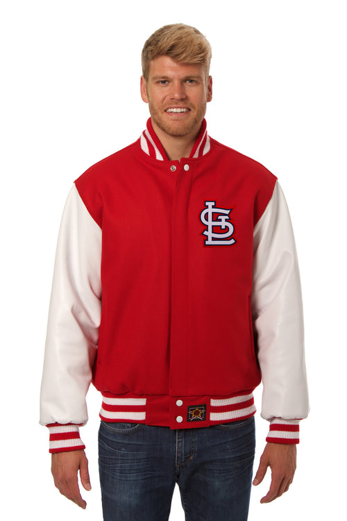 St. Louis Cardinals Embroidered Wool and Leather Jacket