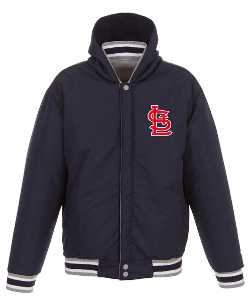 St. Louis Cardinals Reversible Fleece Jacket with Faux Leather Sleeves