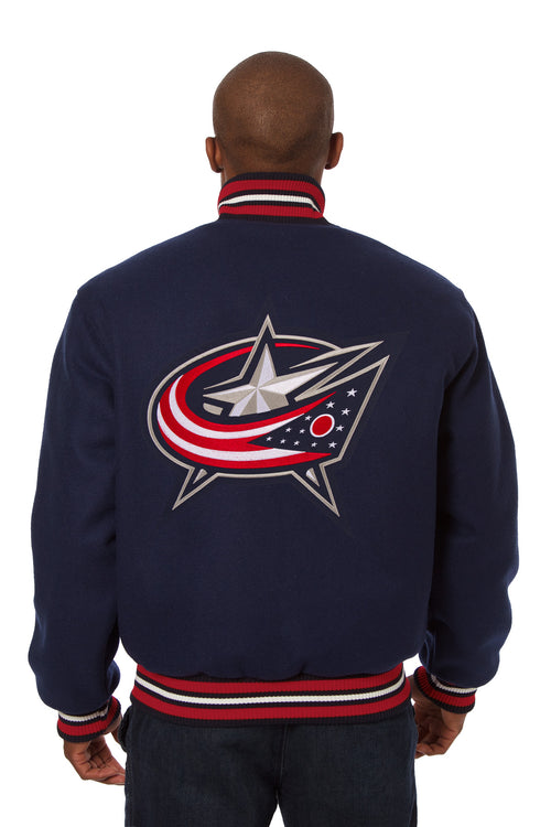 Columbus Blue Jackets Embroidered Wool Jacket