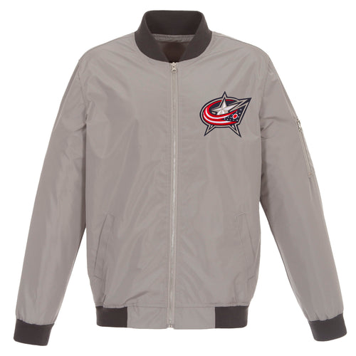 Columbus Blue Jackets Nylon Bomber Jacket