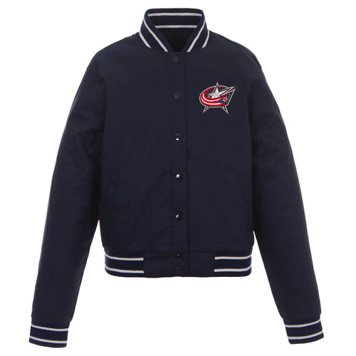 Columbus Blue Jackets Ladies Poly-Twill Jacket
