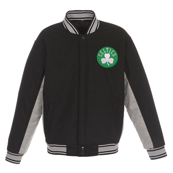 Boston Celtics Reversible Wool Jacket (Front and Back Logos)