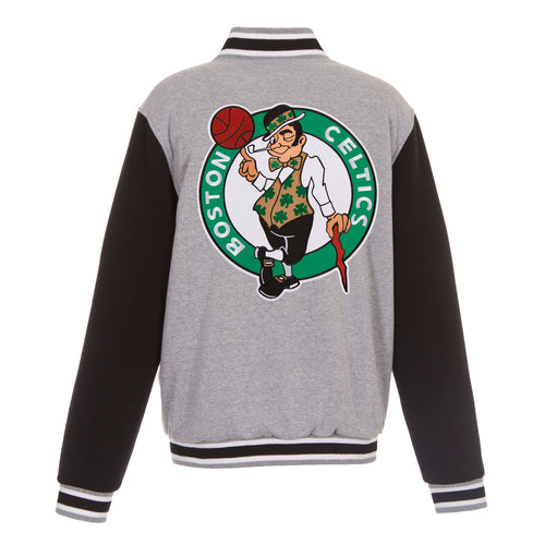 Boston Celtics Reversible Fleece Jacket (Front and Back Logos)
