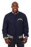 Los Angeles Chargers Embroidered Wool Jacket