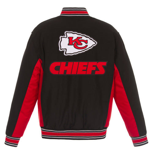 Kansas City Chiefs Reversible Wool Jacket (Front and Back Logos)