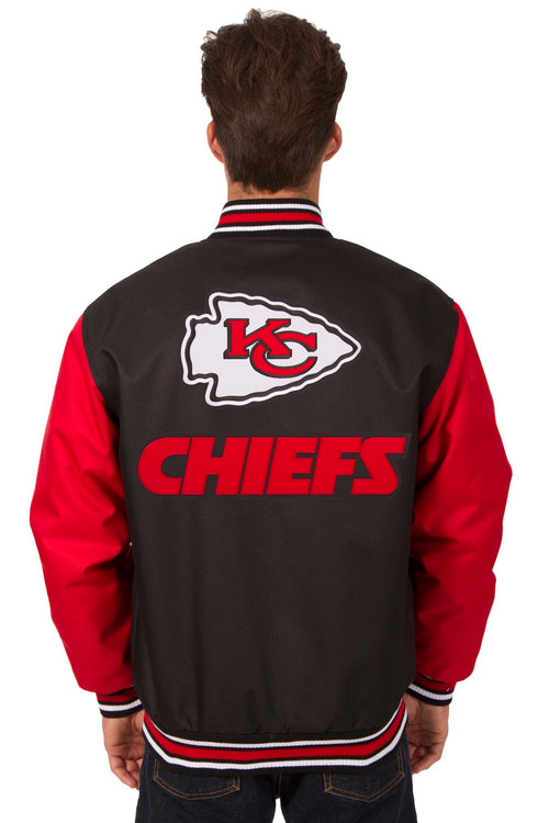 Kansas City Chiefs Poly-Twill Jacket (Front and Back Logo)