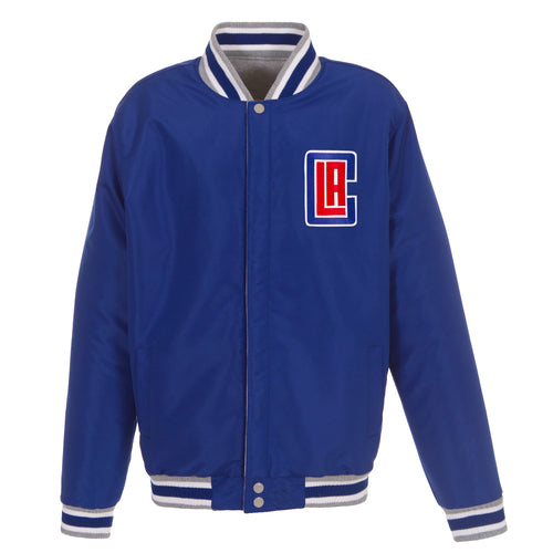 Los Angeles Clippers Reversible Fleece Jacket (Front Logos Only)