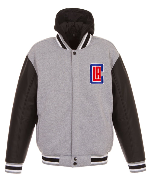 Los Angeles Clippers Reversible Fleece and Faux Leather Jacket