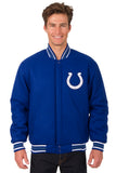 Indianapolis Colts All-Wool Reversible Jacket (Front Logos Only)