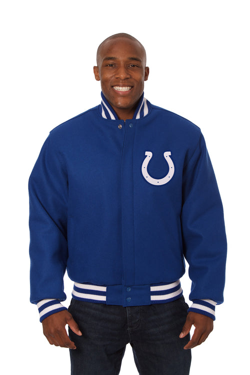 Indianapolis Colts Embroidered Wool Jacket