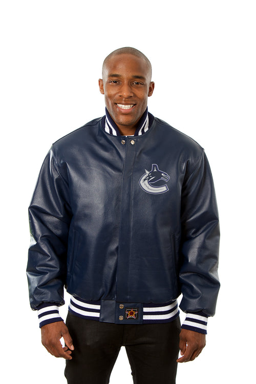 Vancouver Canucks Full Leather Jacket