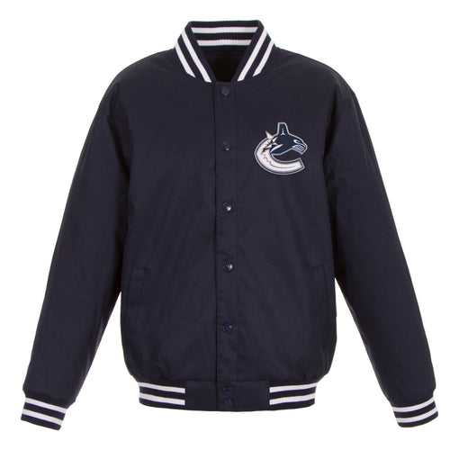 Vancouver Canucks Poly-Twill Jacket (Front Logo Only)
