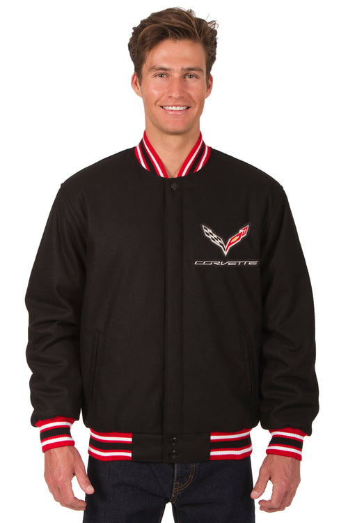 Corvette All-Wool Reversible Jacket (Front Logos Only)