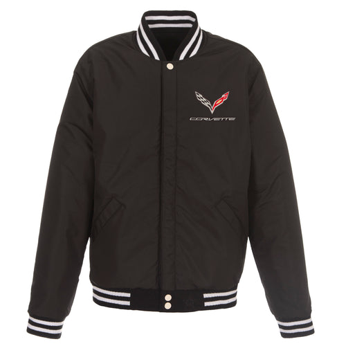 Corvette Reversible Fleece Jacket with Faux Leather Sleeves