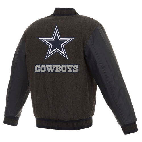 Dallas Cowboys Wool and Leather Reversible Jacket