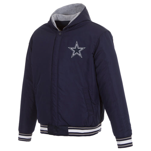 Dallas Cowboys Reversible Poly-Twill Hooded Jacket