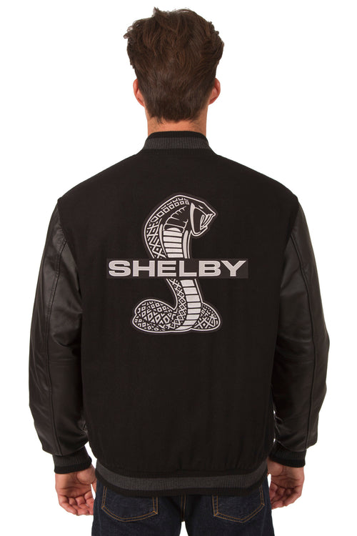 Shelby Cobra Reversible Wool and Leather Jacket