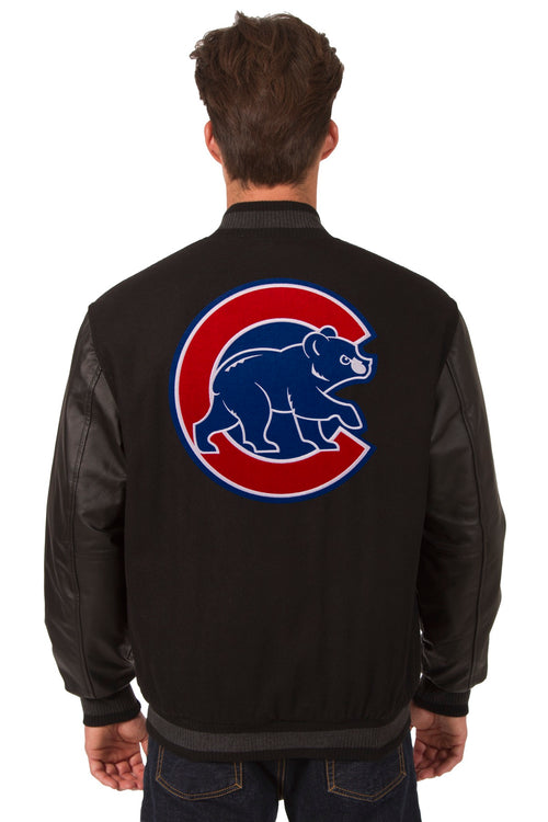 Chicago Cubs Reversible Wool and Leather Jacket