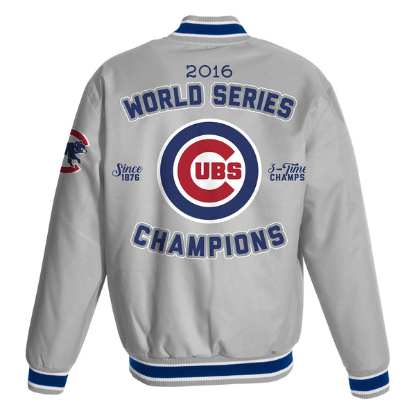 Chicago Cubs Championship Poly-Twill Jacket