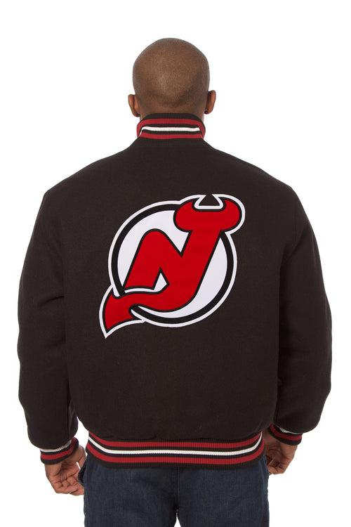New Jersey Devils Embroidered Wool Jacket