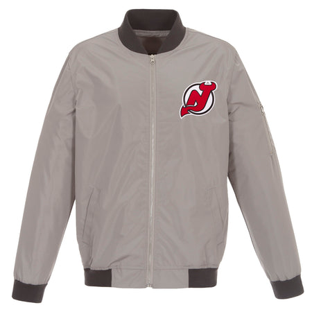 New Jersey Devils Poly-Twill Jacket (Front and Back Logo)