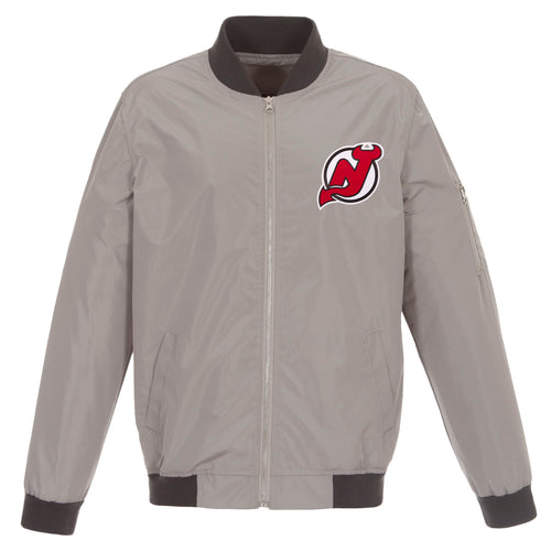 New Jersey Devils Nylon Bomber Jacket