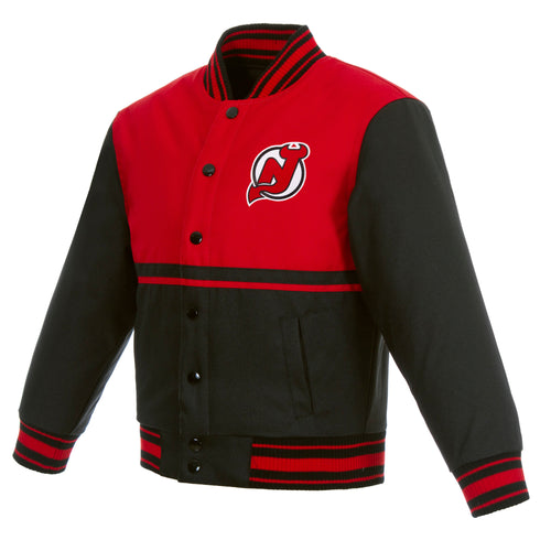 New Jersey Devils Kids Poly-Twill Jacket