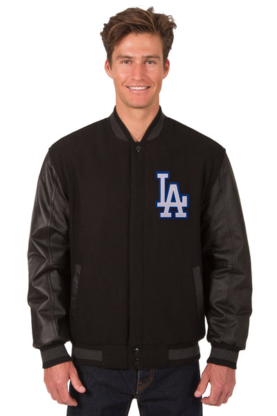 Los Angeles Dodgers Reversible Wool and Leather Jacket