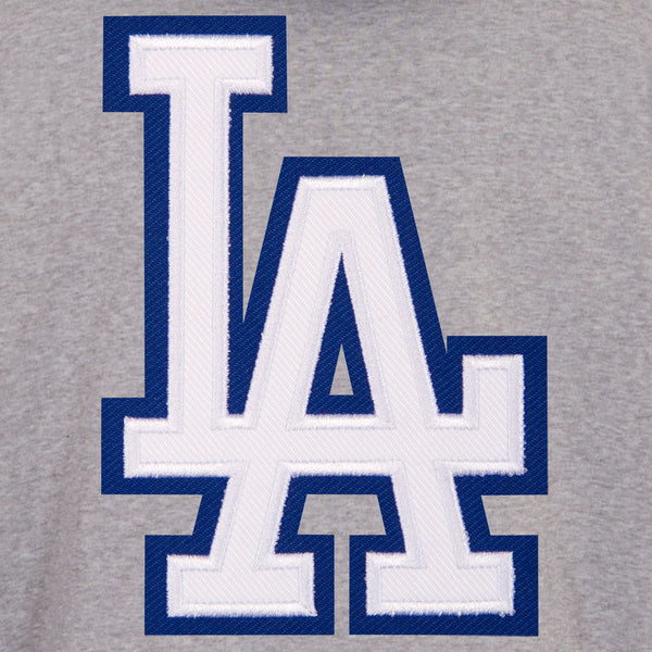 Los Angeles Dodgers Reversible Fleece Jacket with Faux Leather Sleeves