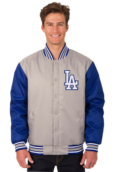 Los Angeles Dodgers Poly-Twill Jacket (Front Logo Only)