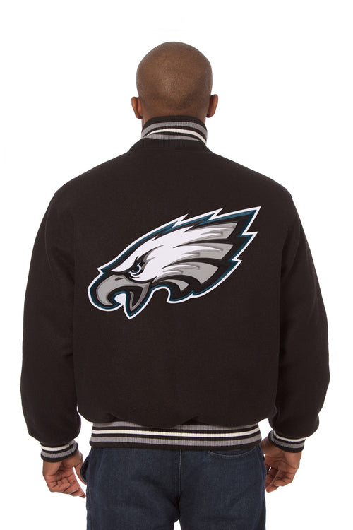 Philadephia Eagles Embroidered Wool Jacket