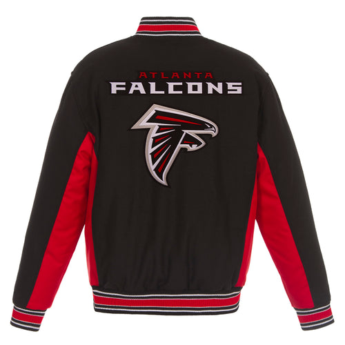 Atlanta Falcons Reversible Wool Jacket (Front and Back Logos)