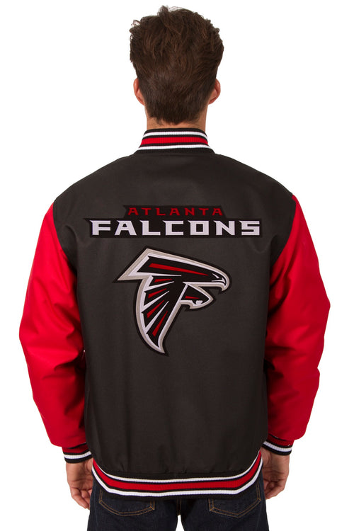 Atlanta Falcons Poly-Twill Jacket (Front and Back Logo)