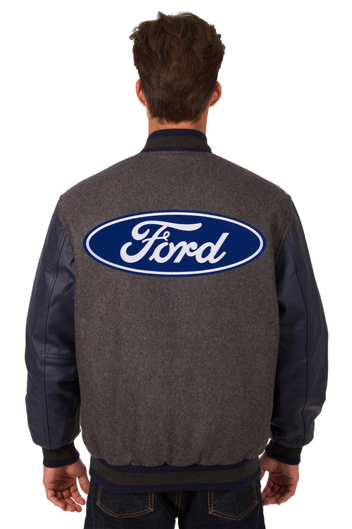 Ford Reversible Wool and Leather Jacket
