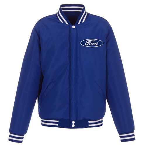 Ford Reversible Fleece Jacket with Faux Leather Sseeves( Front Logo Only)