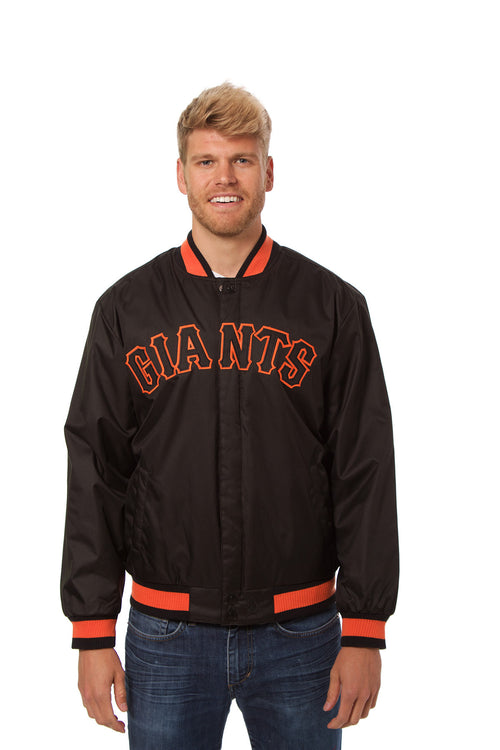 San Francisco Giants Faux Leather and Polyester Jacket