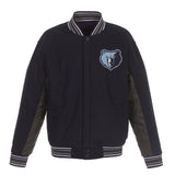 Memphis Grizzlies Reversible Wool Jacket (Front and Back Logos)