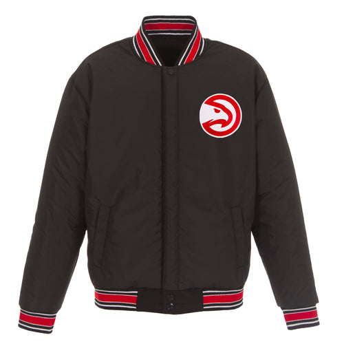 Atlanta Hawks Reversible Wool Jacket (Front Logos Only)