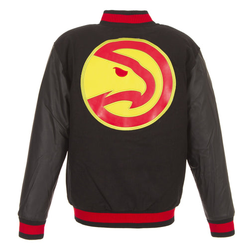Atlanta Hawks Reversible Melton Jacket
