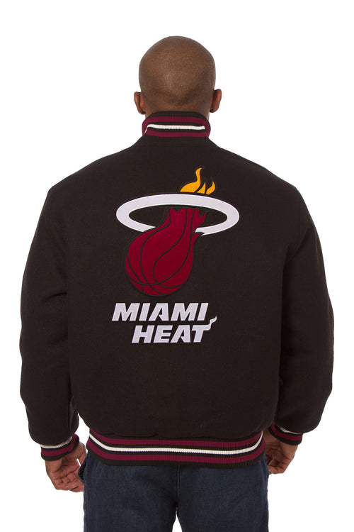 Miami Heat Embroidered Wool Jacket