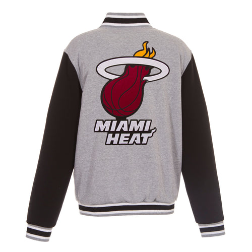 Miami Heat Reversible Fleece Jacket (Front and Back Logos)