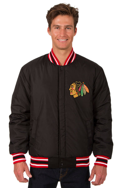 Chicago Blackhawks All-Wool Reversible Jacket (Front Logos Only)