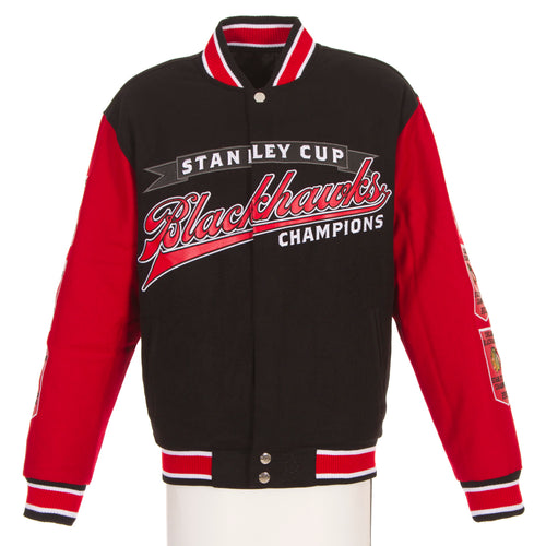 Chicago Blackhawks Reversible Poly-Melton Wool Jacket