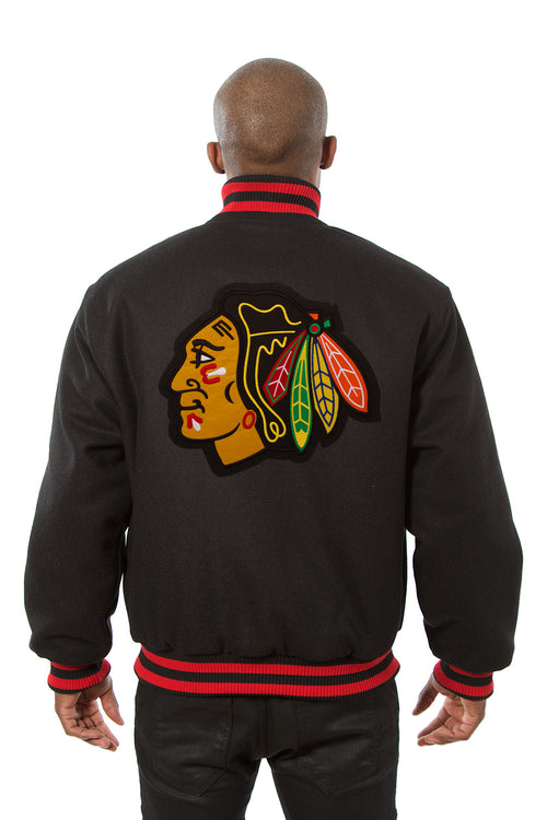 Chicago Blackhawks Embroidered Wool Jacket